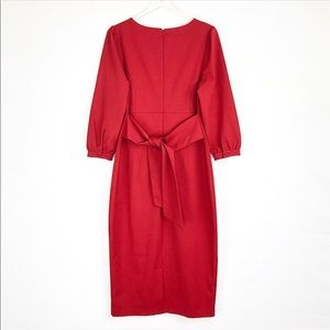 Boden | Red maxi dress 2/3 sleeves tie in the back